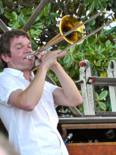 Mark Mullins on trombone