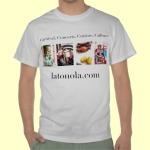 men's Carnival Concerts Cuisine Culture latonola.com t-shirt