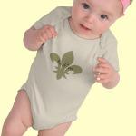 baby Native fleur de lis t-shirt