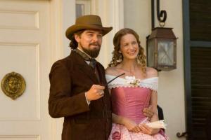 as Lara Lee with Leonardo DiCaprio